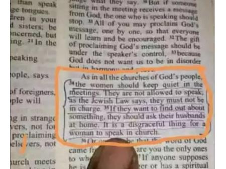 Opinion: After Reading This Particular Verse in The Bible, I Stopped Making noise In The Church