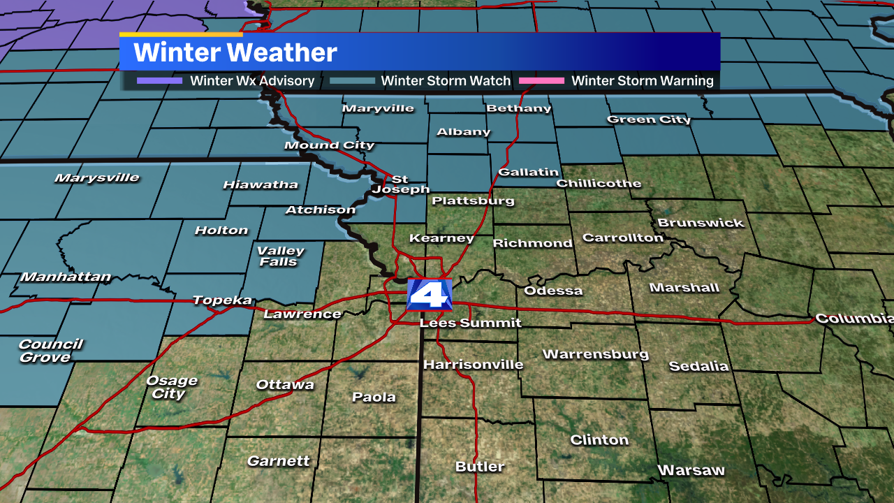 Winter Storm Watch issued ahead of messy Monday
