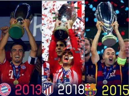 UEFA Super Cup Winners From 1972 To 2018