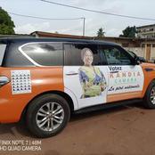 Les voitures de campagnes à l'effigie des candidats du Rhdp qui suscitent des commentaires