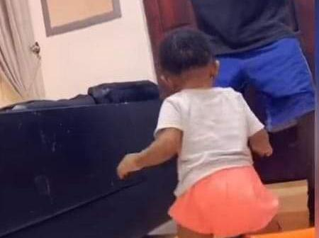 Watch the adorable moment Strongman and daughter were dancing (Video)