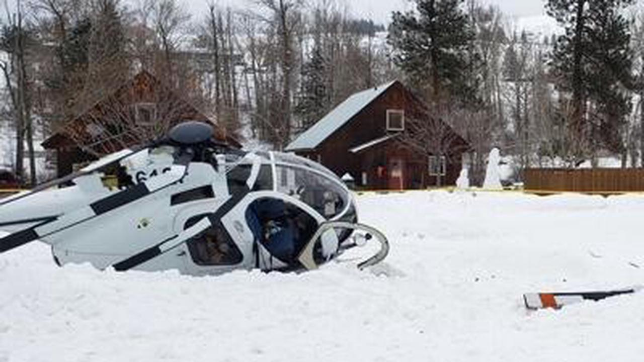 Helicopter crashes in Winthrop