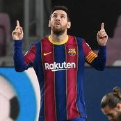 Lionel Messi reacts after his brace in Barca's win