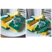 See photos of strange cake designed like a washing sponge with soap suds as the icing