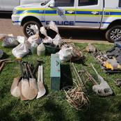 Illegal Mining Dismantled In Kagiso, Immigrants were Mining Behind The Cemetery.