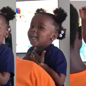 Nana Ama McBrown's Daughter BaBy Maxin Is A Whole Mood - See How Enjoys Her Favorite Song