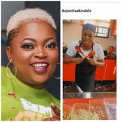 Funke Akindele Cooks Delicious Naija Fried Rice (Photos)