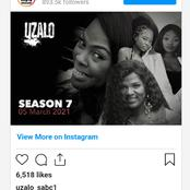 Did you know that Mamkhize will be joining Uzalo as it hit season 7.