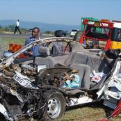 Nasty Head-On Collision Accident Involving A Matatu and A Personal Car That Was Ferrying 4 Drunkards