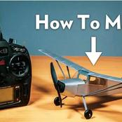 Here are the list of materials you will need if you want to make a small remote controlled aeroplane