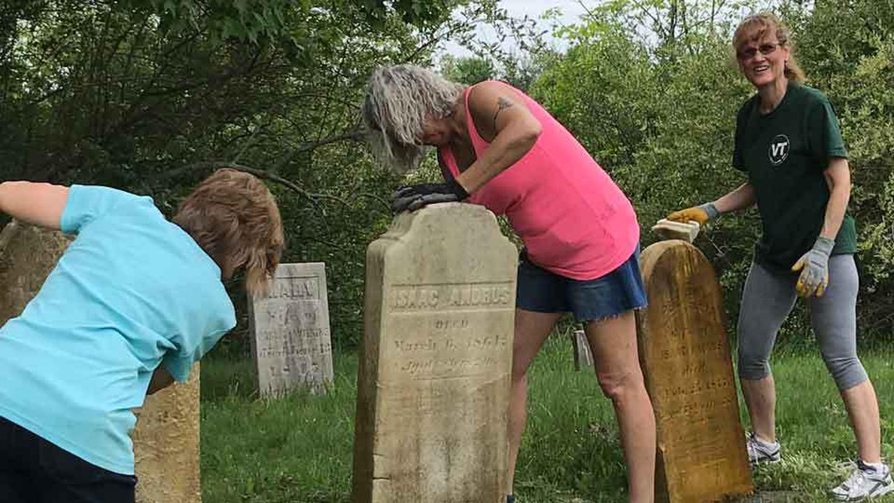 Old Rapides Cemetery has exceptional artistic details on tombs, fences