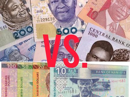 Namibia Is 29 Years Younger Than Nigeria, But See The Strength Of Their Currency VS. Nigeria's Naira