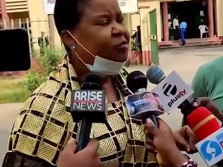 'I Stand With Soro Soke Generation' - Eromosele's Mother Tells Journalists At The Court House Today