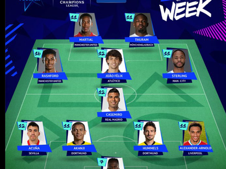 UCL: Team Of The Week, Goal Of The Week, Player Of The Week And Results For Gameweek 2.
