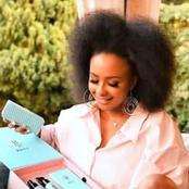 See a picture of Boity in her natural hair, Afro hair.