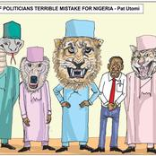 Punch Newspaper Releases A Cartoon Over Pat Utomi's Recent Statement On Nigerian Politicians