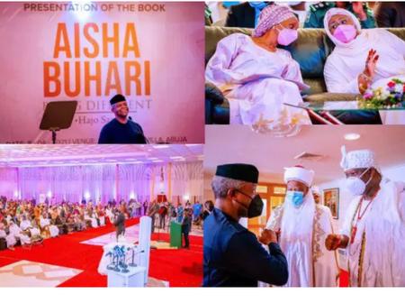Aisha Buhari's book launch: Dangote gives N30m, Tinubu gives N20m amongst others.