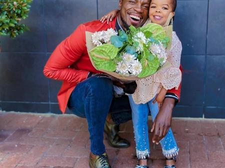 Former the Queen actor leaves Vuyokasi emotional as she receives flowers for the first time.
