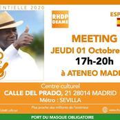 1 coup KO de Ouattara : grand meeting prévu en Espagne le 1er octobre 2020