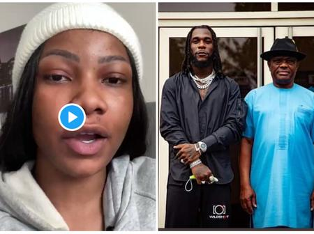 Tacha Blows Hot As People Continue To Criticize Gov. Wike For Gifting Burna Boy Land And Money.