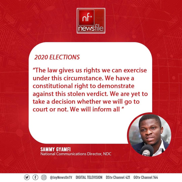 259997b83b3d79ae14d92773f53e8d2d?quality=uhq&resize=720 - 4 'Killer' Comment By NDC's sammy Gyamfi On Supposed Flawed Result