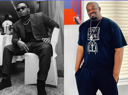 Don Jazzy Finally Admits That He Regrets Having A Fight With Olamide On Stage At 2015 Headies
