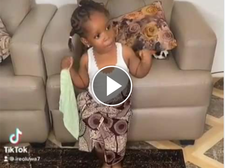 Watch The Incredible Traditional Dance Displayed By This Little Girl That Won My Heart