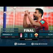 Granada moved up to 8th place on the La liga table after latest 2-1 win against Elche.(Opinion)