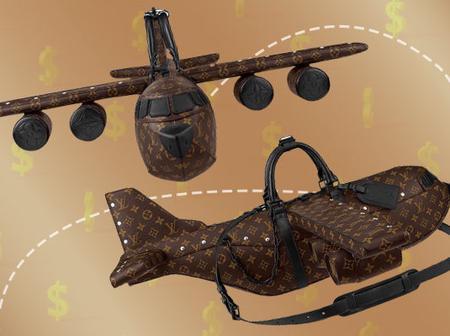 A Louis Vuitton airplane purse that cost $39 000