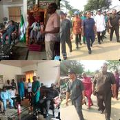 Photos as Rivers APC in Gokana LGA pay courtesy visit to traditional kings and chiefs of LGA
