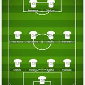 How Real Madrid could lineup against Atletico Madrid and break their defense line.