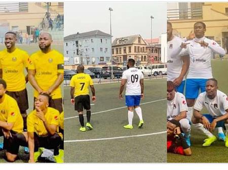 Music stars gather for football match as Davido scores two against Zlatan, Mayorkun, others