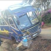 'Eldoret Express' Involved In A Road Accident In A Risky Diversion Road