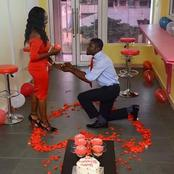 Pictures of How Nigerian Men Beautifully Proposed to Their Girlfriends