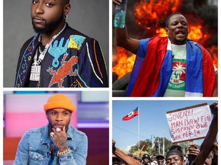 Davido And Tory Lanez React To The Riot Going On In Haiti, Check Out What They Said