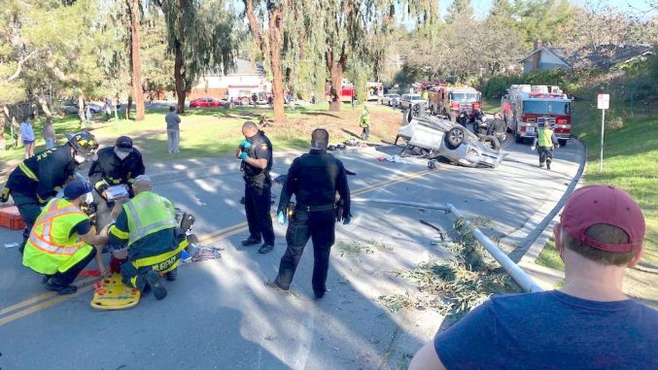 SUV rollover injures three teens