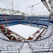 Photos of the massive construction going on in Real Madrid's stadium