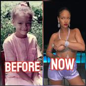 Check Out Throwback Photos Of Singer Rihanna