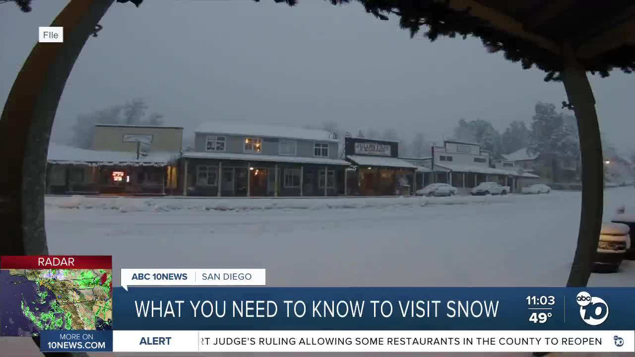 If you choose to visit Julian to see the snow, here's what you need to know