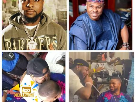 Reactions As Davido Joins Yinka Ayefele On Live Stage, see what he did that got people talking