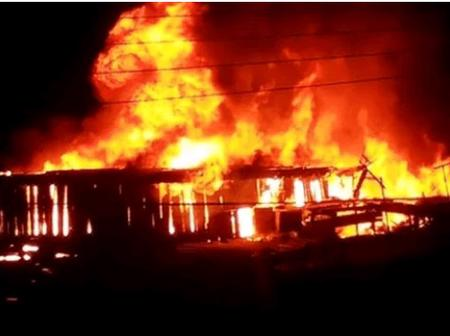 Fire outbreak in Kumasi: Dozens of shops burnt into ashes