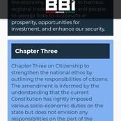 The Power of Chapter 3 on BBI Over Current Constitution That You Have to Know