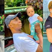 Regina Daniels shares beautiful photos with hubby and son, Munir