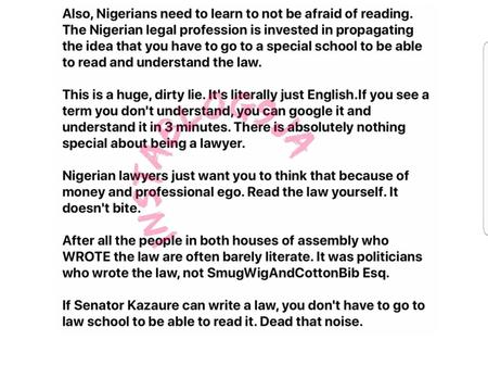 'There's nothing special about being a lawyer,my parents forced me' - David Hundeyin