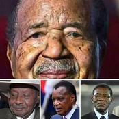 4 Présidents africains (plus de 76ans) qui ont le plus duré au pouvoir et qui continuent d'exercer