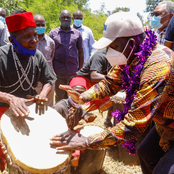 Drumbeats OF BBI! Raila Joins Traditional Dancers For A Jig As He Drums Support For BBI