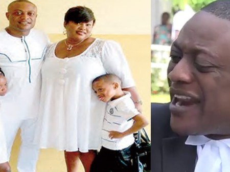 One of Ghana's controversial personality; Lawyer Ampaw loses wife to an unknown ailment
