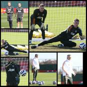 See photos of Manchester United players training for their Sunday EPL clash