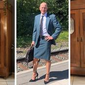 Guys, This Man is Here To Disagree That Skirts And Heels Are Not Only For Women (See Photos)