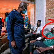 See How The Injured Protesters Reacted when Gov Sanwo Olu Visited them at the Hospital (PHOTOS)